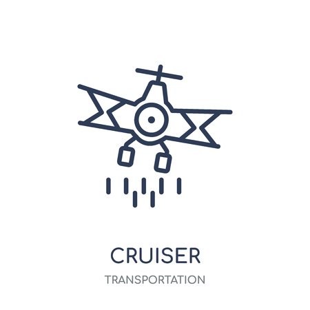 Cruiser icon. Cruiser linear symbol design from Transportation collection. Çizim