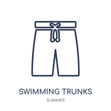 Swimming trunks icon. Swimming trunks linear symbol design from Summer collection. Simple outline element vector illustration on white background.