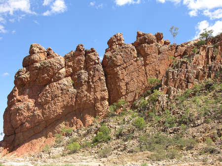 helen: Rocky outcrop at Helen Gorge in Central Australia Stock Photo