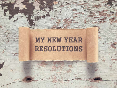 New Year Resolutions concept - My New Year Resolutions written on a paper.
