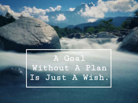 Motivational and inspirational quote - A goal without a plan is just a wish. Vintage styled background. Stok Fotoğraf
