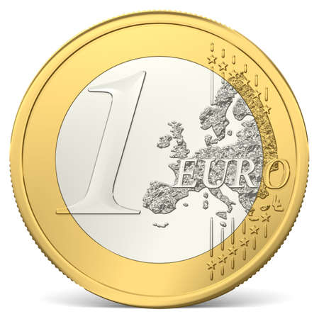 gold and silver coins: one euro coin
