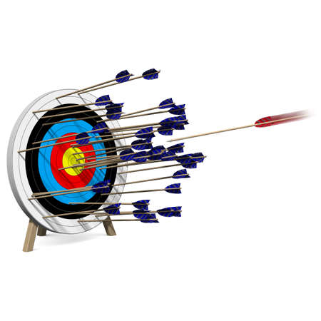 One of many Arrows hits the Center