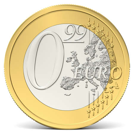 zero euro ninety-nine coin seen from the front