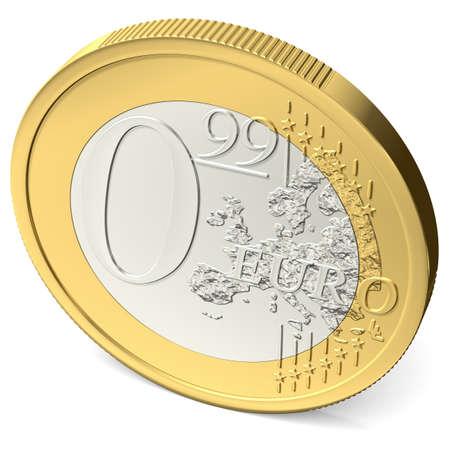 zero euro ninety-nine coin seen from above Imagens