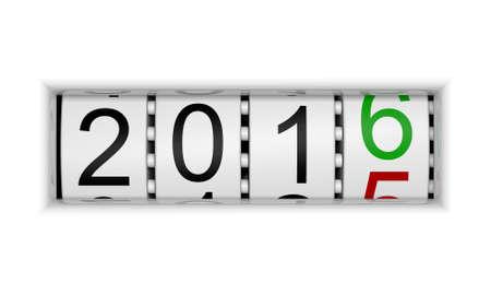 turn of the year: New Year 2016 b Stock Photo