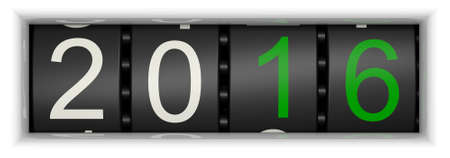 year: Counter with Year 2016 Stock Photo