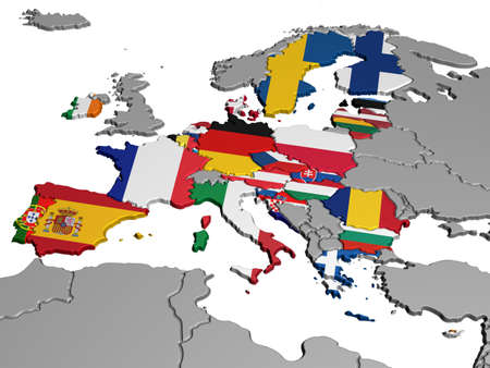 Map of Europe in National Colors