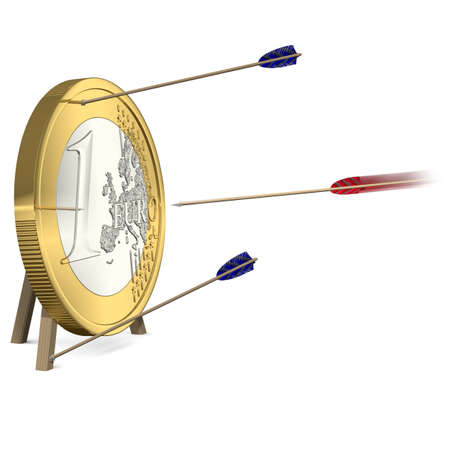 Success - Only one Arrow hits the Euro Coin Target