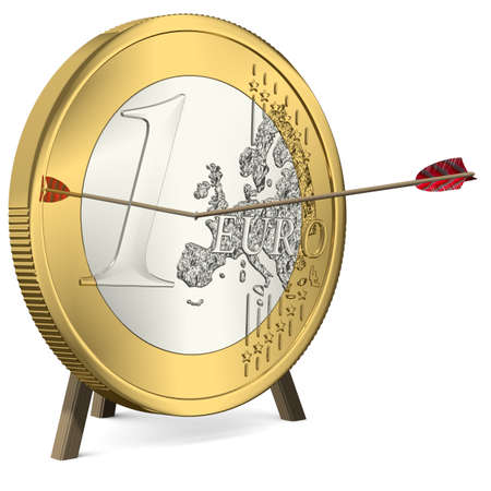 give out: Success - Arrow hits the Euro Coin Center