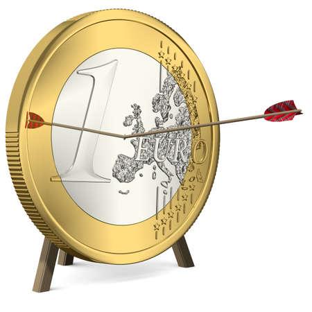 Success - Arrow hits the Euro Coin Center