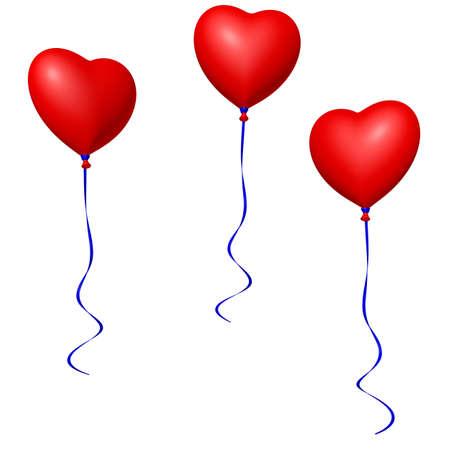 red heart balloons Imagens