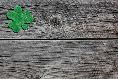 st  patrick's day: St patrick s day barn board background abstract four leaf clover