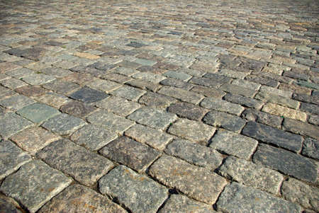 Image cobblestones as background closeup photo