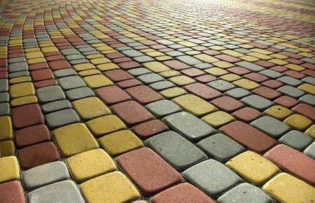 Image colored sidewalk as background Stock Photo