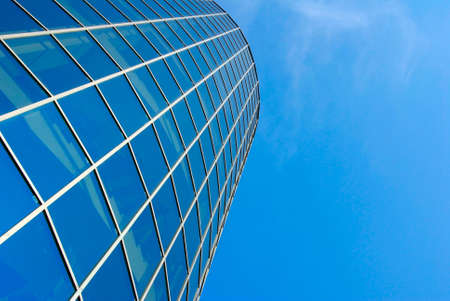 Image of skyscraper on a  blue sky background Stock Photo