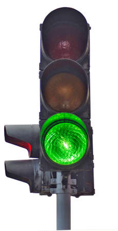 Isolated image of traffic lights on a white background