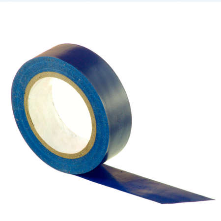 sellotape: Image of insulating tape on a white background