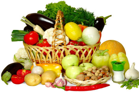 images of different fruits and vegetables in the basket