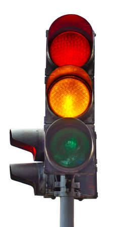 Isolated image of traffic lights on a white background Imagens - 23072376