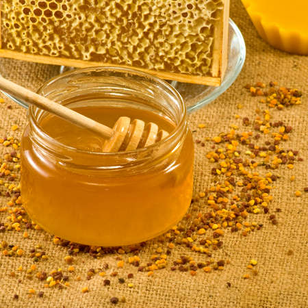 Bee  products Stock Photo