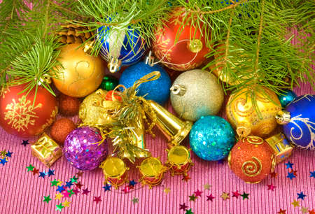 image of  various Christmas decorations photo
