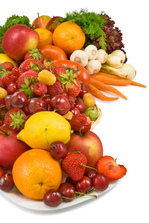 image of fruit and vegetables Stockfoto