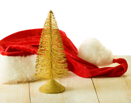 santa clause hat: image of the Christmas tree and Santa Clause hat