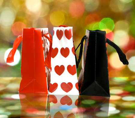 Image of gift shopping bags photo