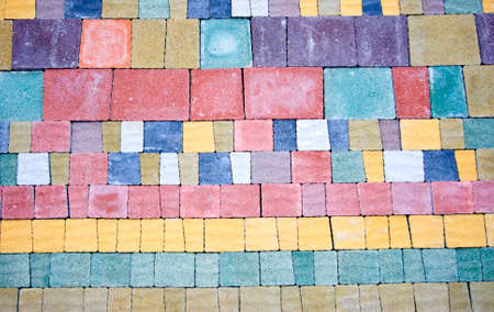 Image of colored pavement as background photo