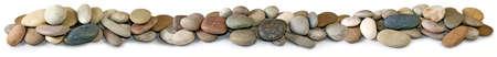 white stones: Isolated image of stones on a white background
