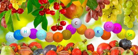 b ball: image of fresh organic fruit in the garden