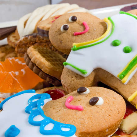 gingerbread: Image delicious cookies and gingerbread close-up
