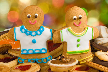gingerbread: Image delicious cookies and gingerbread closeup