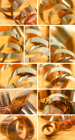 image of photographic film close-up Stock Photo