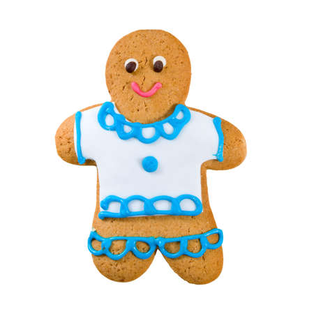 ginger bread man: Isolated image of delicious gingerbread close-up