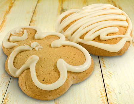 gingerbread: Isolated image of delicious gingerbread closeup Stock Photo