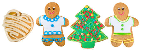 ginger bread man: Isolated image of ginger cookies close-up