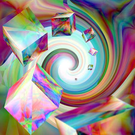 bright: bright abstract illustration closeup Stock Photo