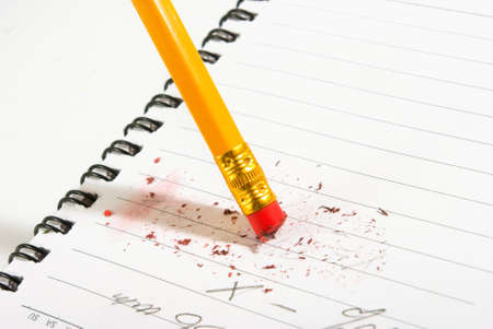 err: image of pencil and notebook closeup Stock Photo