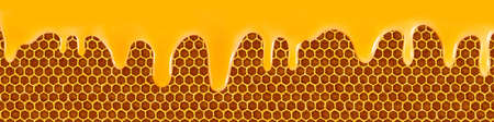 to trickle: Isolated image of flowing honey close up