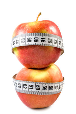 image of apples and centimeter close up