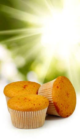 patisserie: image of three muffin closeup