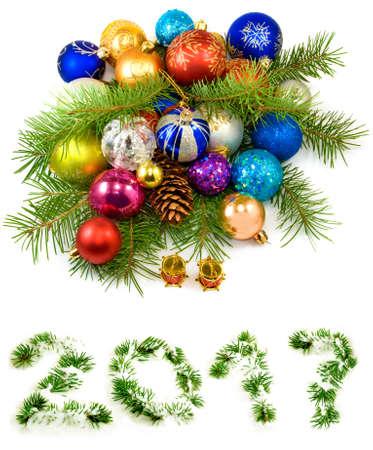 image of beautiful Christmas decorations close up
