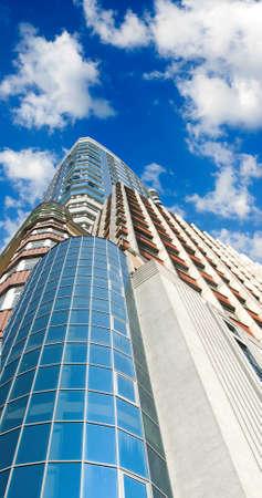 image of skyscrapers closeup Stock Photo
