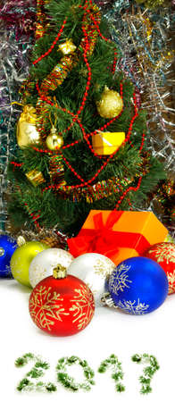 Image of Christmas decorations close-up Stock Photo
