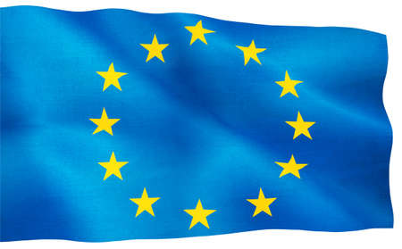 european union flag: image of European Union flag closeup