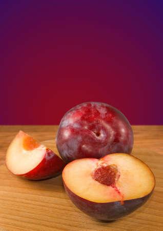 Isolated image of plum close-up Stock Photo