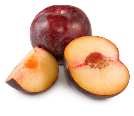 Isolated image of  plum close-up