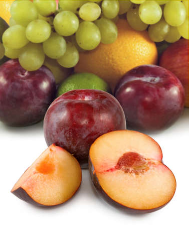 image of different fruits closeup Stock Photo